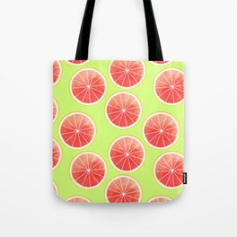 Pink Grapefruit Slices Pattern Tote Bag