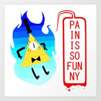 bill cipher Art Prints featuring Bill Cipher by Naomi F