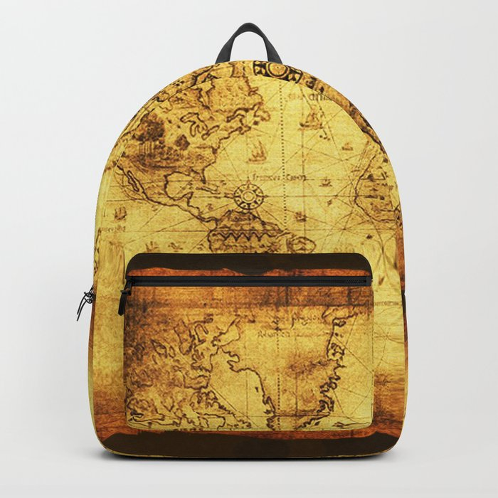 Arty vintage old world map backpack by onlinegifts society6 arty vintage old world map backpack gumiabroncs Gallery