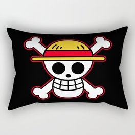 Straw hat Flag Rectangular Pillow