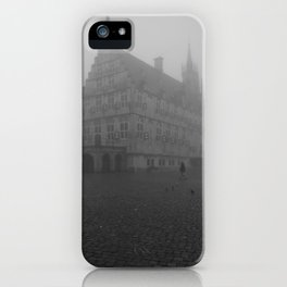 Dutch cheese-town in the mist iPhone Case