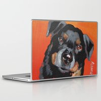 rottweiler Laptop & iPad Skins featuring Rottweiler by Stanley Arts