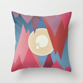 Cry. Cave Throw Pillow