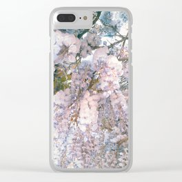 wisteria flowers Clear iPhone Case