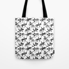 Dressage Horse Silhouettes Tote Bag