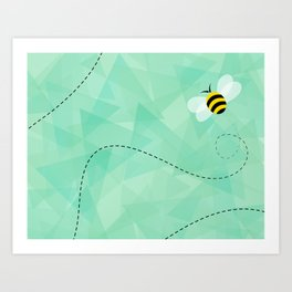 BUZZ OFF Art Print