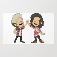 niall Area & Throw Rugs featuring Schulz Harry and Niall High Five by Ashley R. Guillory