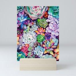 Succulent Garden Mini Art Print