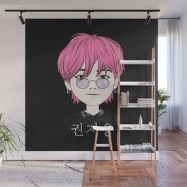 G-Dragon Cartoon Black Wall Mural