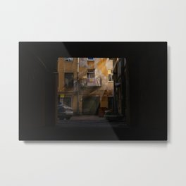 View of the courtyard from an archway 2 (St. Petersburg, Russia) (2014-8SPB-VA-2) Metal Print