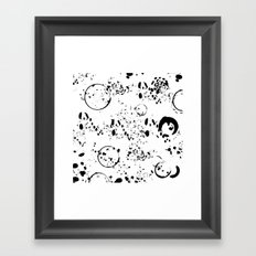 Spatter Framed Art Print