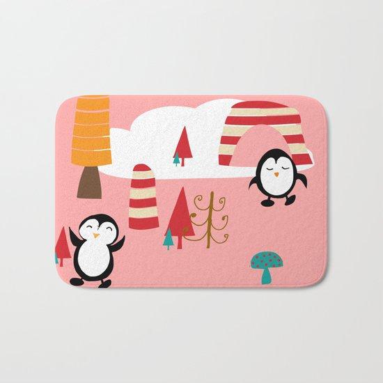 Oriana Penguin pink Bath Mat