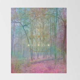Magic of the Woods Throw Blanket