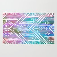 boho Area & Throw Rugs featuring Boho Soul by Schatzi Brown