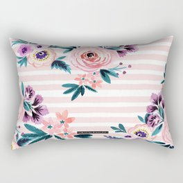 Victoria Blushing Stripe Rectangular Pillow