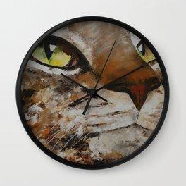 Gato con dolor de cabeza Wall Clock