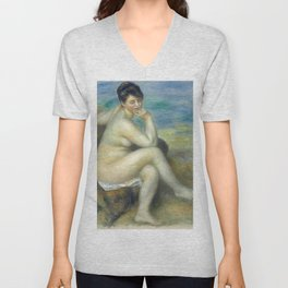 "Auguste Renoir ""Baigneuse accoudée"" Unisex V-Neck"