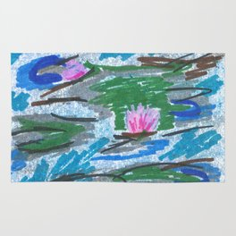 Water Lilies Inspired by Monet Rug