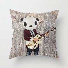 Peter Panda Rocking Out Throw Pillow