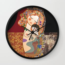 Kokeshi Mother&child Wall Clock