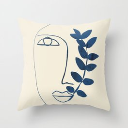 Abstract Face 5 Throw Pillow