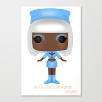 fifth element Canvas Prints featuring The Fifth Element Hostess by SpaceWaffle