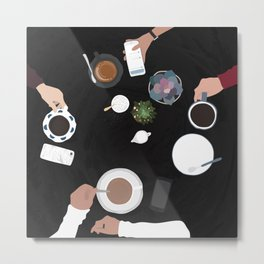 Coffee with friends - Aspen Co. Metal Print