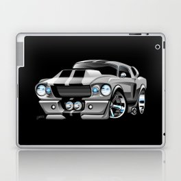 Classic Sixties American Muscle Car Cartoon Laptop & iPad Skin