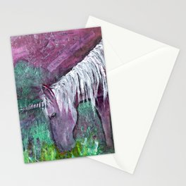 Unicorn Warrior at Rest Stationery Cards