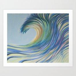 Colorful Drip Wave  Art Print