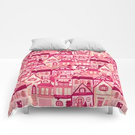 Pink Little Town Comforters