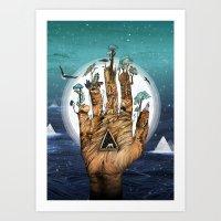 stargate Art Prints featuring Stargate by Sandra Dieckmann