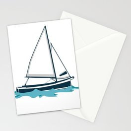 Feeling Nauti Sailor Or Ship Captain Gift Stationery Cards
