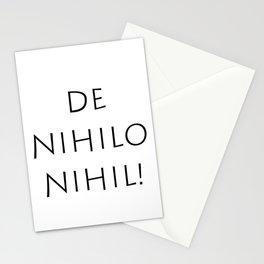 De nihilo nihil Stationery Cards