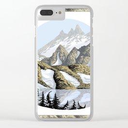 AN ALPINE LAKE Clear iPhone Case