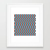 brain waves Framed Art Prints featuring Blue Brain Waves by Gianni Sarcone