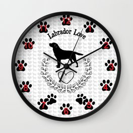 Labrador Love Wall Clock