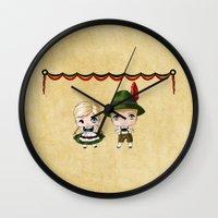 german Wall Clocks featuring German Chibis by artwaste