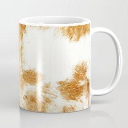 Golden Brown Cow Hide Coffee Mug