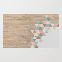 triangle Area & Throw Rugs featuring Archiwoo by Marta Li