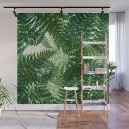 green big jungle leaves Wall Mural