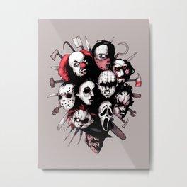 Horror Heroes Metal Print