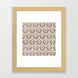 Mid Century Flower Pattern 9 Framed Art Print