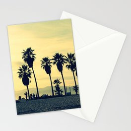 People playing in Venice Beach at sunset Stationery Cards