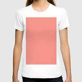 Coral Pink Solid Color T-shirt