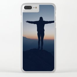 Open Arms and Open Heart Clear iPhone Case