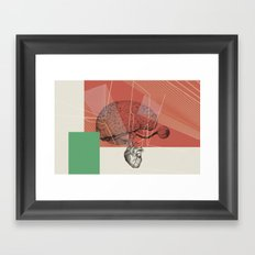HUMAN RACE / BRAIN Framed Art Print
