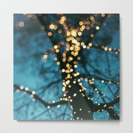 Bokeh tree. Metal Print