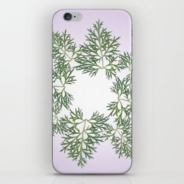 wormwood absinthe plant pattern iPhone Skin