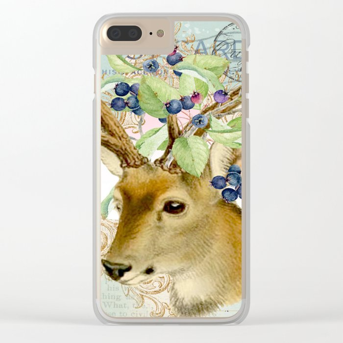 Winter animal #13 Clear iPhone Case